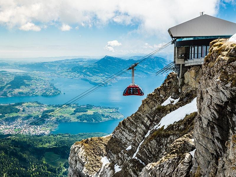 Suiza. Teleférico