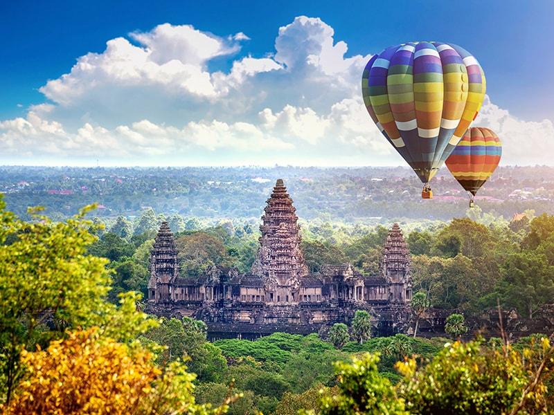 Camboya y Laos. Sobrevolar en globo el majestuoso Angkor Wat