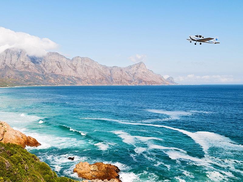Sudáfrica. Sobrevuelo por la costa de Hermanus